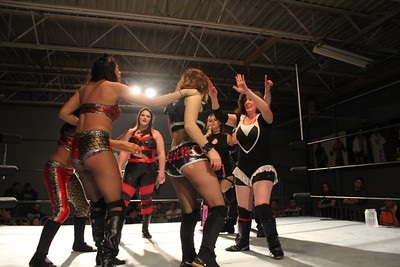 Isana, Ashley Vox & Davienne vs. Delmi Exo, Jawsolyn & Delilah Hayden