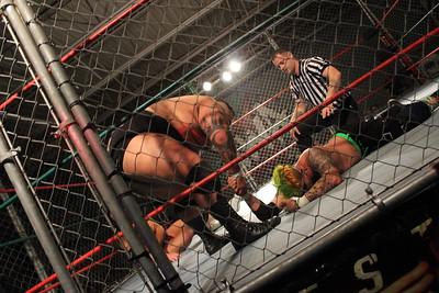 Steel Cage Match  Josh Briggs vs. Ace Romero vs. Mike Graca