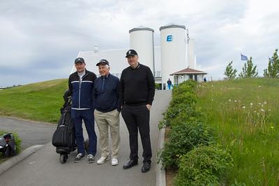 Sæmundur Pálsson, Hans Óskar Isebarn og Einar Long.