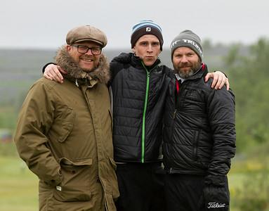 Golfkennarar. Ingi Rúnar Gíslason, Snorri Páll Ólafsson og Árni Páll Hansson.