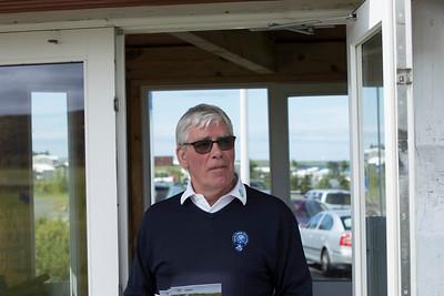 Halldór B. Kristjánsson, ræsir á Korpúlfsstaðavelli.