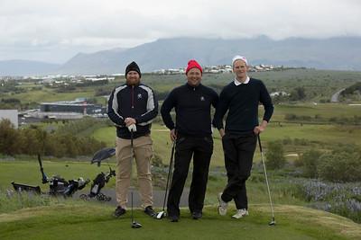 Daníel Atlason, Margeir Vilhjálmssom og Ernir Sigmundsson á 15. teignum.