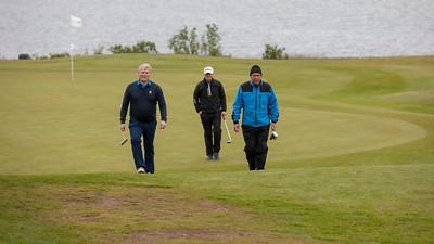 11:30 ráshópurinn. Sjötta flöt. Jóhann Sigurðsson,  Brynjólfur Þórsson og Börkur Geir Þorgeirsson.