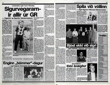Íslandsmeistari í Grafarholtinu 1984