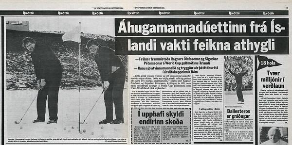 Sigurður og Ragnar á HM liða 1984