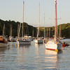 View from the visitors mooring in Fowey