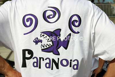 PARANOIA graphic on shirts.