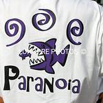PARANOIA graphic on shirts.