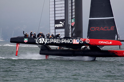 ORACLE cranked up and flying downwind.
