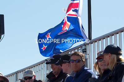 NEW ZEALAND supporters in grand stand.