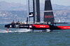 ORACLE flying across the water. 9-8-13   3rd. race.