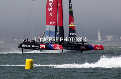 Team NZ chasing ORACLE down course 4th race.