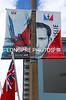 Sir Ben AINSLIE'S poster on flag poles