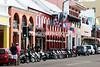 Colorful business along FRONT STREET. Hamilton, Bermuda
