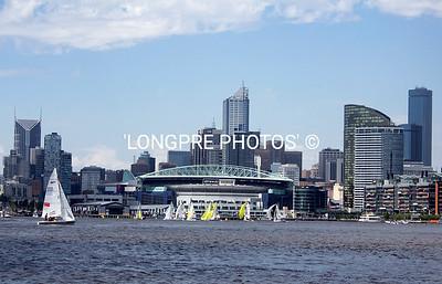 SB3's racing in front of Etihad Stadium, Melbourne, Australia.