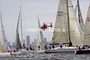 PASSAGE RACE start. Sat. Jan. 22, 2011, off Melbourne on way to GEELONG, bottom end of Port Philip Bay. 400+ boats started.