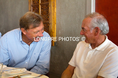 JOHN BERTRAND visiting with DAVE ULLMAN.