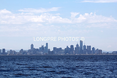 MELBOURNE city from Port Philip Bay.
