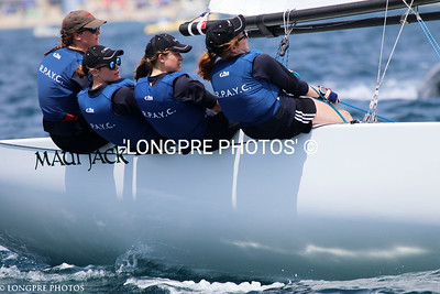 ROYAL PRINCE ALFRED YC.....Helm Clare Costanzo, going to weather.