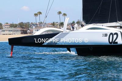 ORION flying hull through Start line