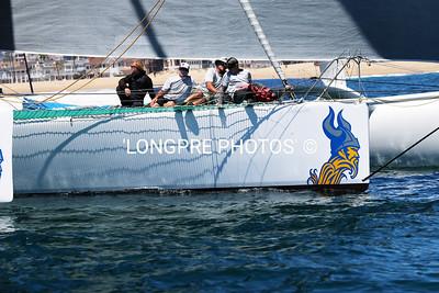 MIGHTY MERLOE mid hull crew.