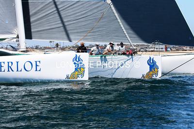 MIGHTY MERLOE 3 hulls through Start line 4-22-16