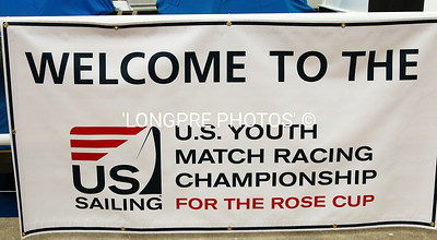 ROSE CUP Welcome sign at Balboa Yacht Club.  Host for 2015 championships.