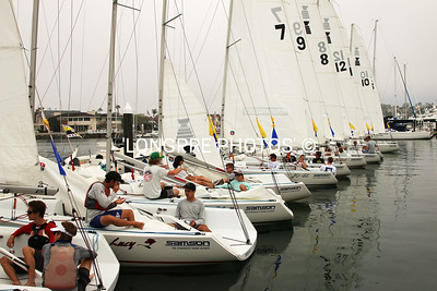 DAY 1 of ROSE CUP...teams in boats at BYC dock.