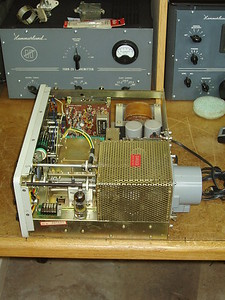 The following few pics are views of the transmitter.   Got switches and controls cleaned up and it works as advertised.