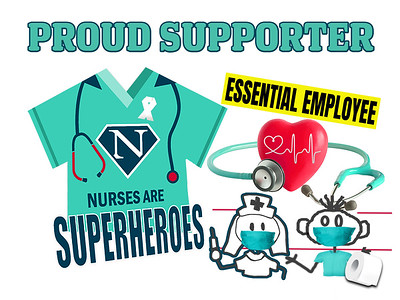 PROUD SUPPORTER NURSE  SIGNn