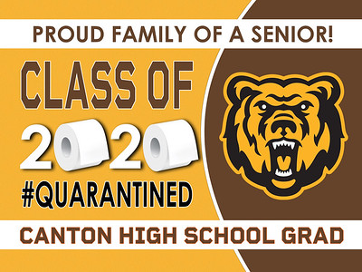 1--3-CANTON BEAR LOGO  AVAILABLE IN BANNERS YARD SIGN WINDOW CLINGS
