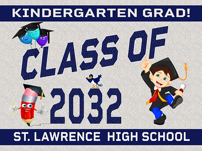 7--2 KINDERGARTEN-SLC AVAILABLE IN BANNER YARD SIGN WINDOW CLINGS