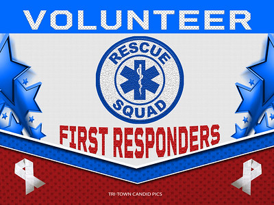 VOLUNTEER RESQUAD  FIRST RESPONDERS - Stars