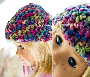 Single crocheted beanie cap in a delicious Autumn-inspired color palette.