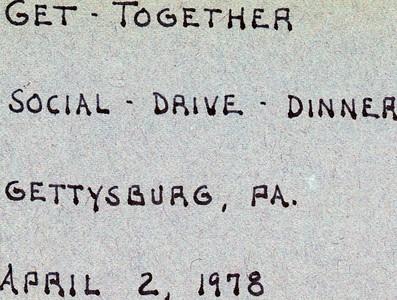 1978 Social Gettysburg