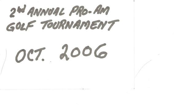 2006 - 2nd Pro-Am Golf