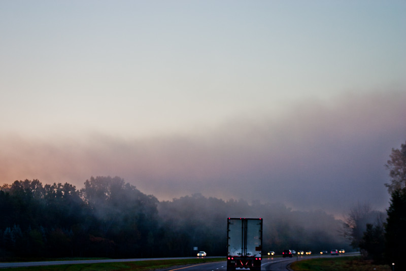 Traffic on US 23 in Michigan