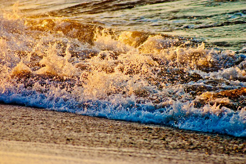 Wave Crashing on the Beach