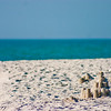 Sand Castles on the Florida Beach