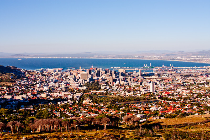 Cape Town from on the Hill