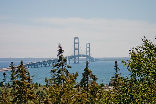 Mackinac bridge from Northern Michigan
