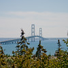 Mackinac bridge from Northern Michigan