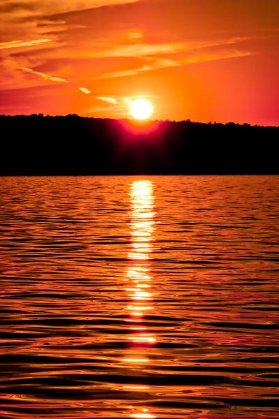 Sundown on the Water in Michigan