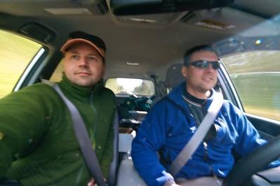 Sparky and Ryan driving Yellowstone _MG_4282