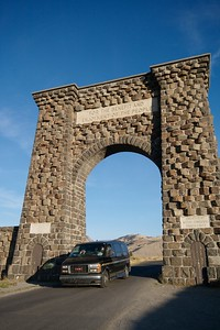 "North Gate ""For the benefit and enjoyment of the people"" [September; Yellowstone National Park, Wyoming]"