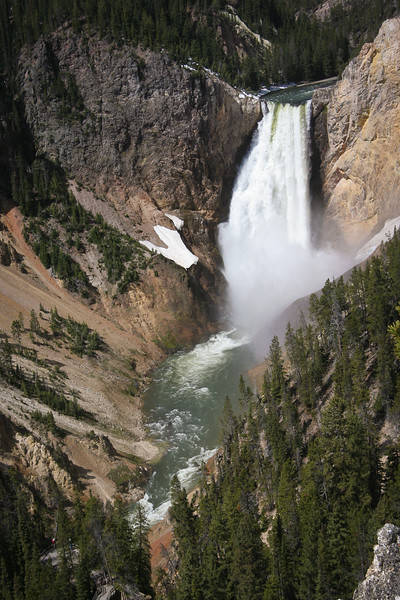 Yellowstone River Canyon at Lower Falls