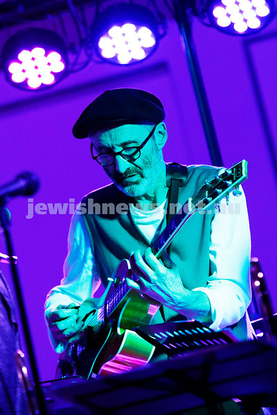 29-7-17. YID! performing their amazing jazz, funk, indie, yiddish, klezmer, reggae, jam to a packed house at Kadimah in Melbourne. Adam Starr, Simon Starr, Gideon Priess, Willy Zygier, Husky Gawenda and an all star line up of 20 performers. Photo: Peter Haskin