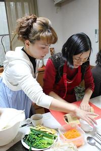 Korean Cooking Class, February 6, 2013