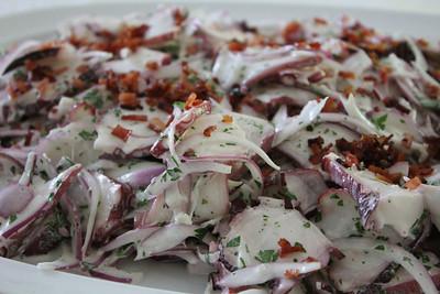 Peruvian Cooking Class, April 25, 2013: Octopus Salad (Ensalada de pulpo con bacon)