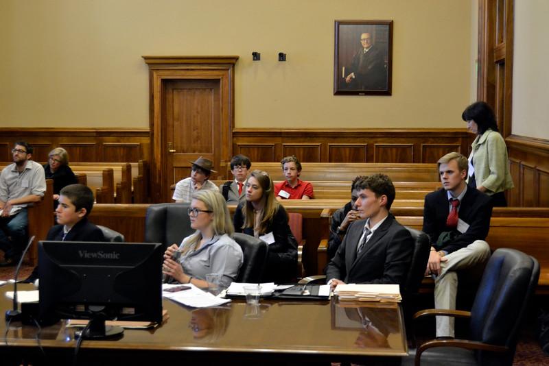 High school mock trial team weighs feedback